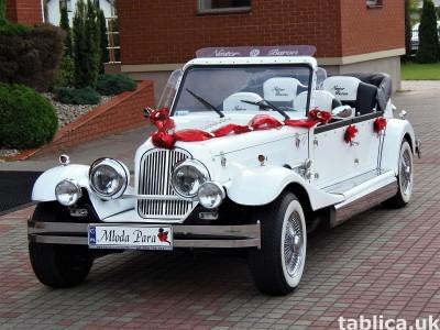 AUTO Samochód do ślubu zabytkowy kabriolet Alfa Romeo Nestor
