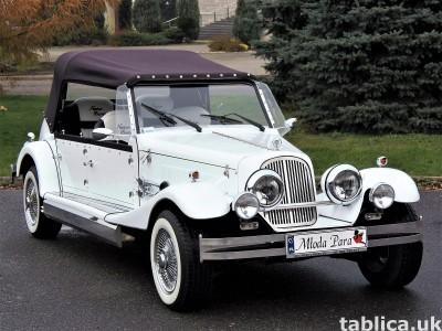 Zabytkowe samochody do ślubu Auta RETRO na wesele kabriolet