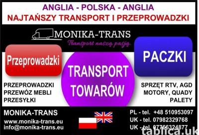 Monika-Trans Najtańszy Transport i Przeprowadzki w UK-Pl