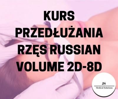 Kurs przedłużania rzęs Russian Volume 2D-8D