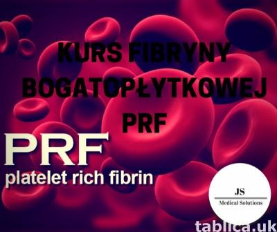 Kurs fibryny bogatopłytkowej PRF