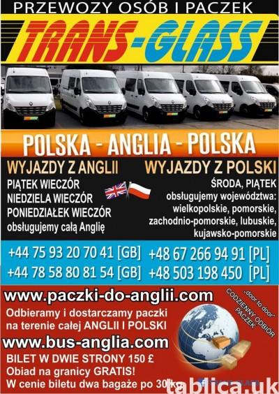TRANSPORT OSÓB I PACZEK POLSKA-ANGLIA
