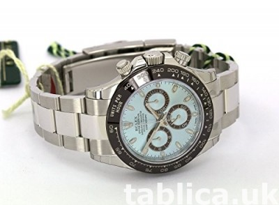 Rolex Daytona Platinum Watch Ice Blue Ceramic 116506 Unworn