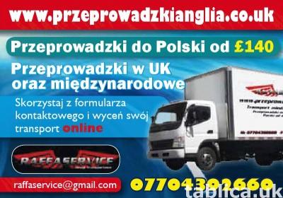 Przeprowadzki Anglia Polska Szkocja -30% Promocja! Cala UK