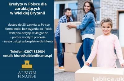 Kredyt w Polsce zarobki w Anglii