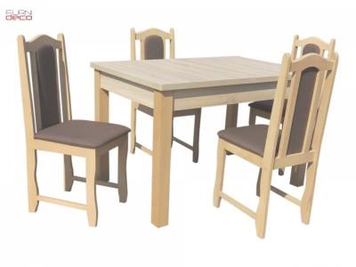 Niska Cena! Klasyczny Zestaw W 2 Wersjach Stół + 4 Krzeseł