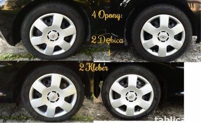 4 Orig. Tires: 2 DĘBICA - Frigo 2 and 2 KLEBER - Krisalp HP