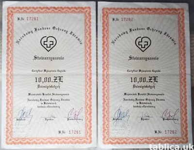 For Sale: 2 Original Brick Certifications