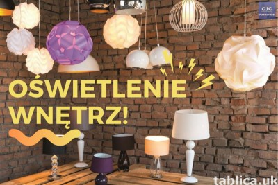 Polskie lampy podłogowe, stołowe i ścienne