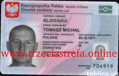 Dokumenty, dowody tożsamości