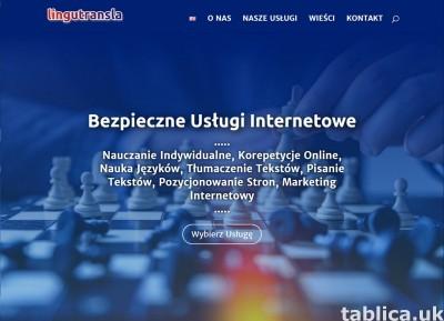 Nauka angielskiego i polskiego, tłumaczenia, pisanie tekstów