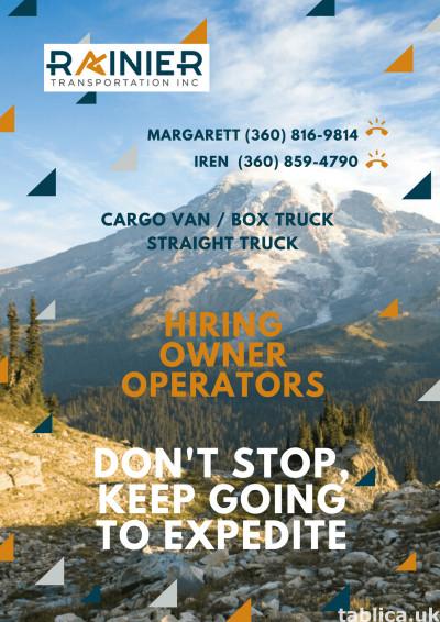 Rainier Transportation Inc invite drivers to cooperation wit