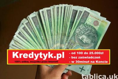 Pożyczka na dowód do 60.000zł w 30minut