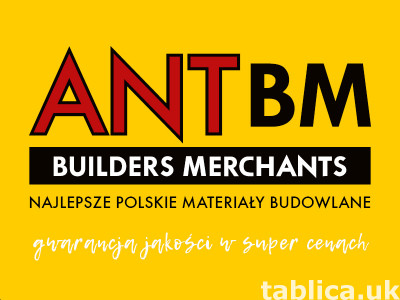 Najlepsze materiały i narzędzia budowlane TYLKO w ANT BM!