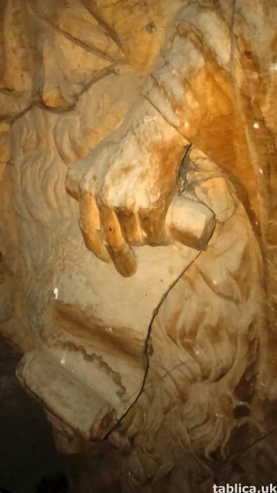 For Sale: Sculpture: Saint - Solid Wood