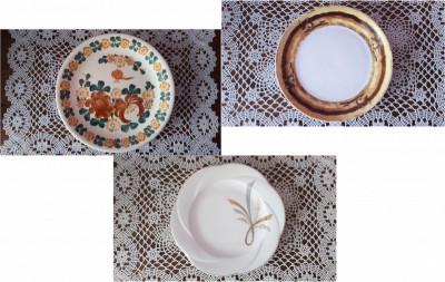 3 Original Plates: Veroni, Lubiana and FAJANS WŁOCŁAWEK