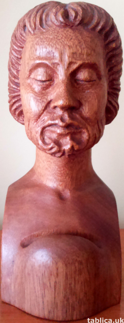 Bust: Old Man - Solid Wood !!!
