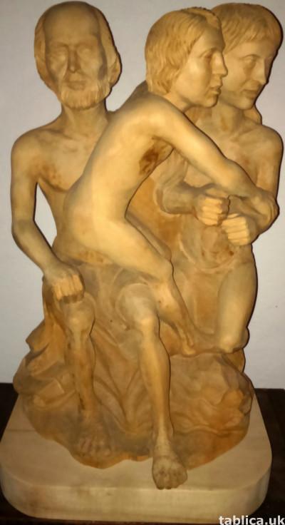 Sculpture: Three Innocents - Solid Wood !!!