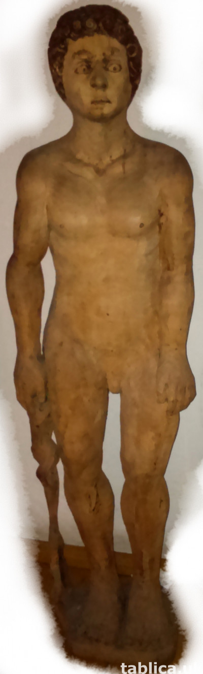 Sculpture: Staring Man - Solid Wood !!!