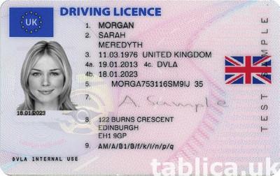 Angielskie prawo jazdy kategorie A B C D E UK BRITISH DRIVIN