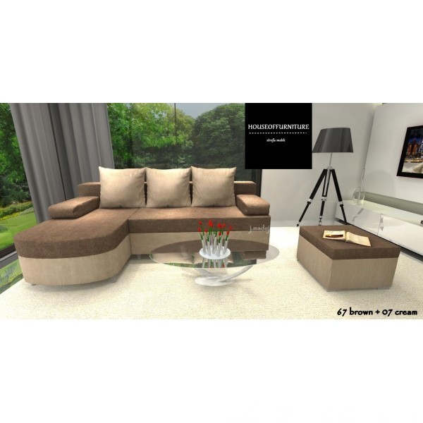 SOFA BED WERSALKA CORNER HELIOS,ANY COLOUR SCHEME, BONELL  1