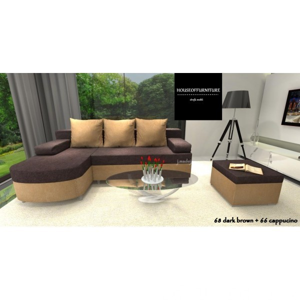 SOFA BED WERSALKA CORNER HELIOS,ANY COLOUR SCHEME, BONELL  2