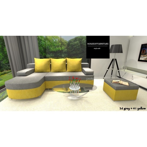 SOFA BED WERSALKA CORNER HELIOS,ANY COLOUR SCHEME, BONELL  3