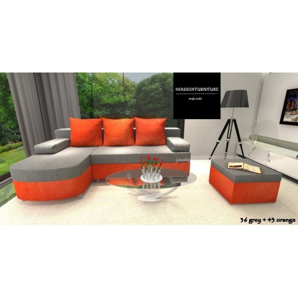 SOFA BED WERSALKA CORNER HELIOS,ANY COLOUR SCHEME, BONELL  5