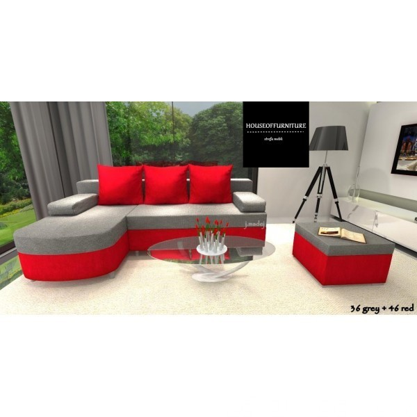 SOFA BED WERSALKA CORNER HELIOS,ANY COLOUR SCHEME, BONELL  6
