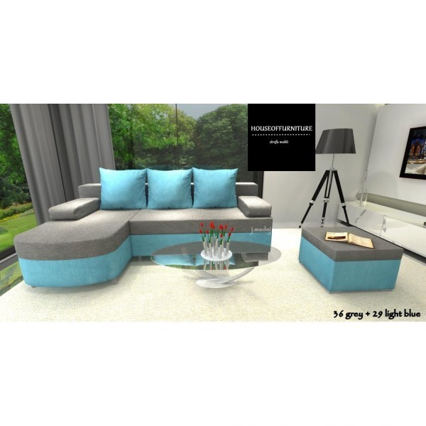 SOFA BED WERSALKA CORNER HELIOS,ANY COLOUR SCHEME, BONELL  7
