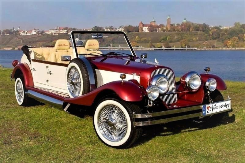 AUTO Samochód do ślubu zabytkowy kabriolet Alfa Romeo Nestor 36