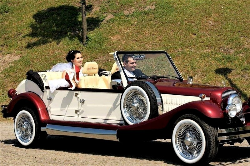 AUTO Samochód do ślubu zabytkowy kabriolet Alfa Romeo Nestor 45