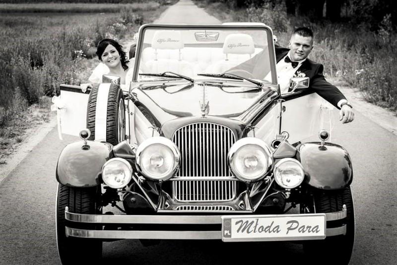 AUTO Samochód do ślubu zabytkowy kabriolet Alfa Romeo Nestor 54