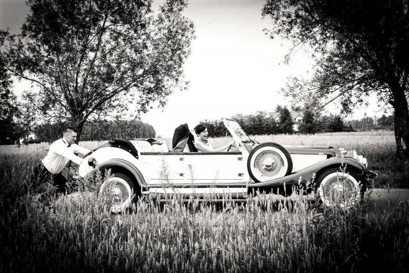 AUTO Samochód do ślubu zabytkowy kabriolet Alfa Romeo Nestor 55