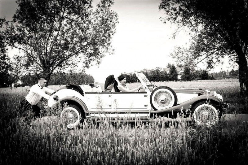 Zabytkowy Kabriolet do ślubu Alfa Romeo Spider Nestor Baron  50