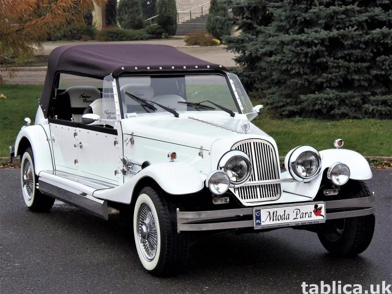 Zabytkowe samochody do ślubu Auta RETRO na wesele kabriolet 0