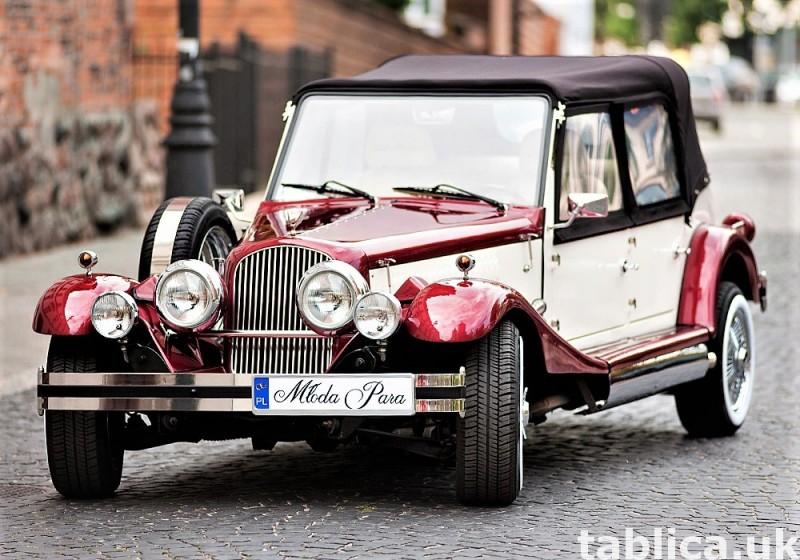 Zabytkowe samochody do ślubu Auta RETRO na wesele kabriolet 2