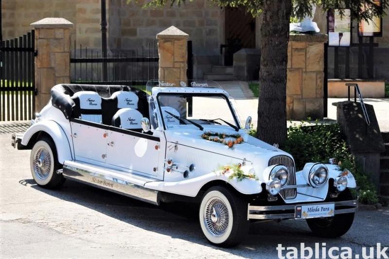 Zabytkowe samochody do ślubu Auta RETRO na wesele kabriolet 3
