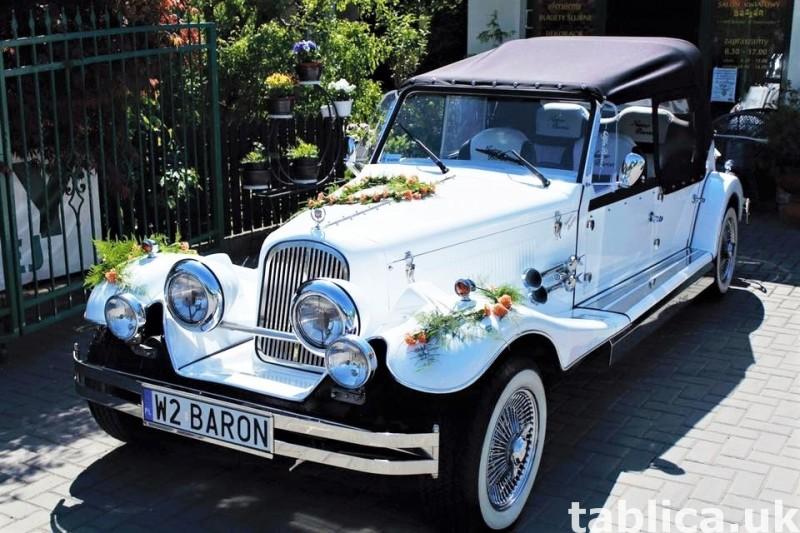 Zabytkowe samochody do ślubu Auta RETRO na wesele kabriolet 4