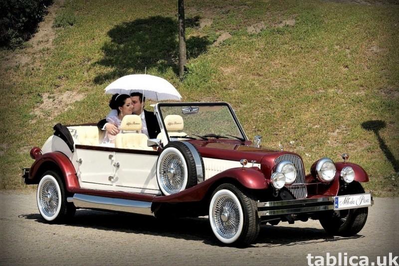 Zabytkowe samochody do ślubu Auta RETRO na wesele kabriolet 6