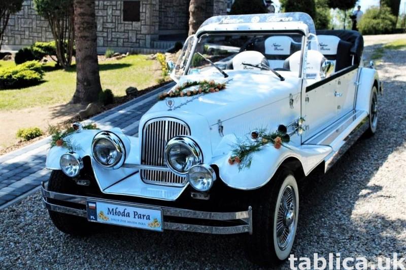 Zabytkowe samochody do ślubu Auta RETRO na wesele kabriolet 7