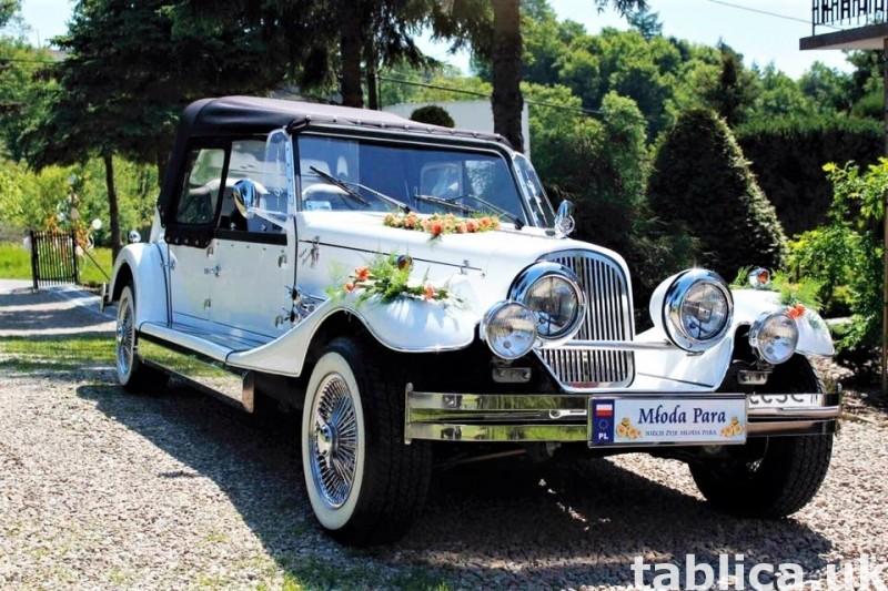 Zabytkowe samochody do ślubu Auta RETRO na wesele kabriolet 8