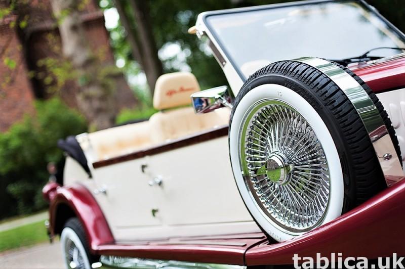 Zabytkowe samochody do ślubu Auta RETRO na wesele kabriolet 9