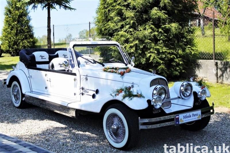 Zabytkowe samochody do ślubu Auta RETRO na wesele kabriolet 11
