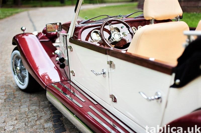 Zabytkowe samochody do ślubu Auta RETRO na wesele kabriolet 14