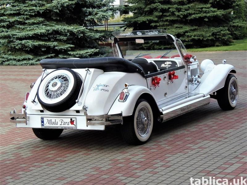 Zabytkowe samochody do ślubu Auta RETRO na wesele kabriolet 16