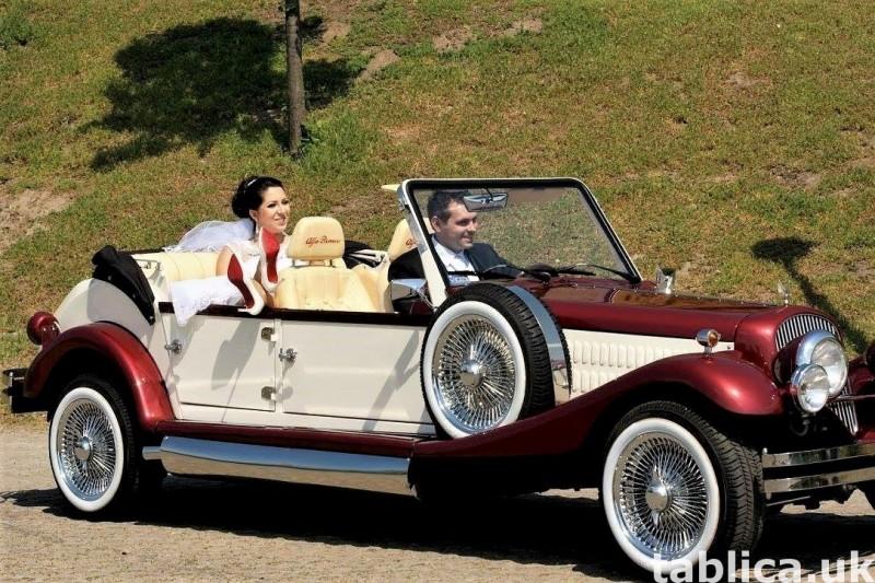 Zabytkowe samochody do ślubu Auta RETRO na wesele kabriolet 18