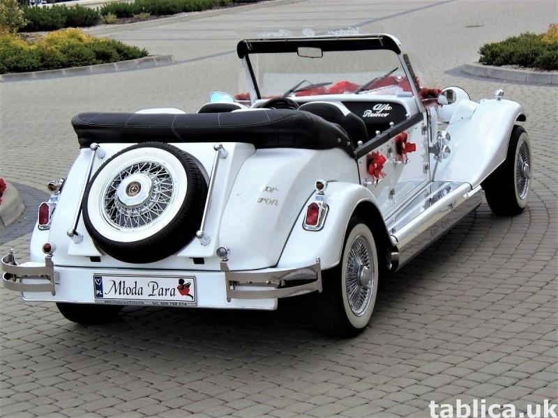Zabytkowe samochody do ślubu Auta RETRO na wesele kabriolet 19