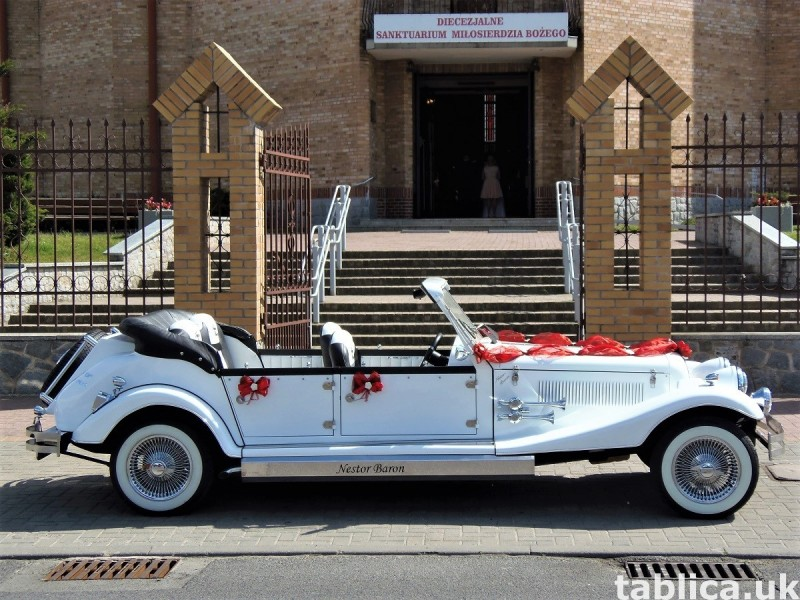 Zabytkowe samochody do ślubu Auta RETRO na wesele kabriolet 23