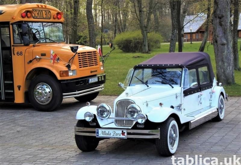 Zabytkowe samochody do ślubu Auta RETRO na wesele kabriolet 24